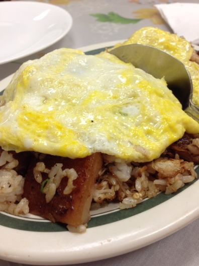 Pork Adobo Fried Rice (they have chicken too)