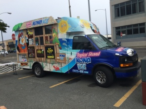 The Kona Ice Truck lets kids make their own snow cones!