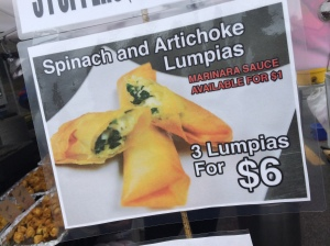 Spinach & Artichoke with Cheese Lumpias