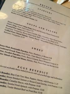 Tango Cafe menu