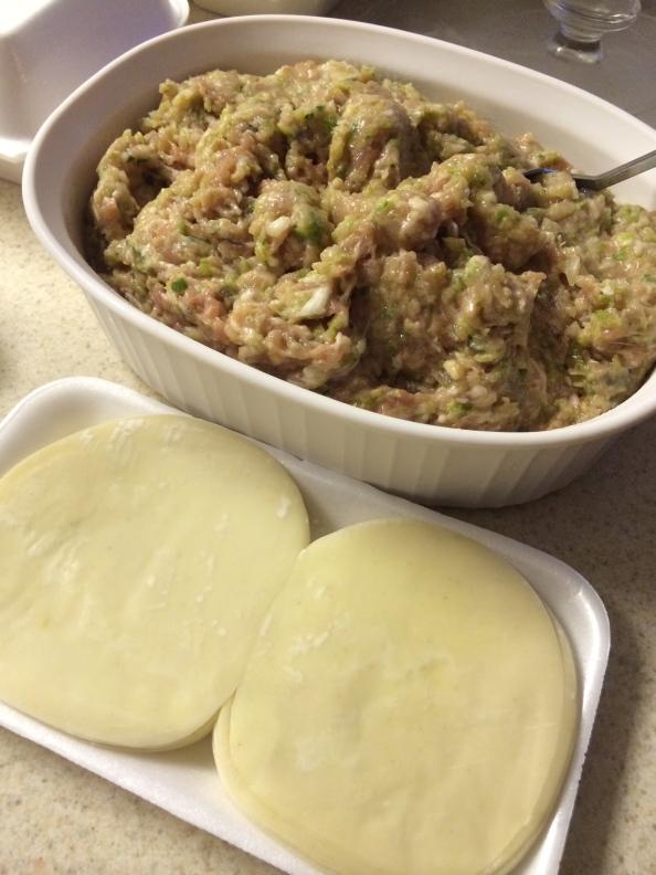 Making dumplings :)