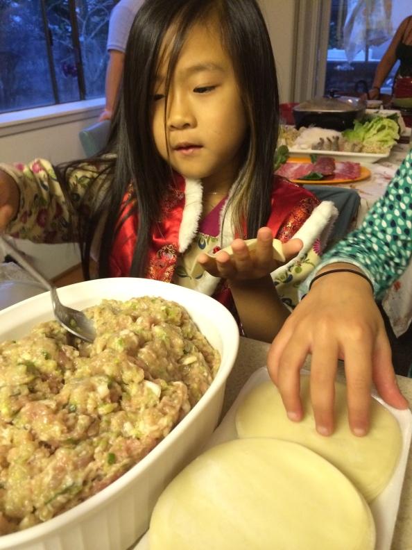 Learning to make dumplings!
