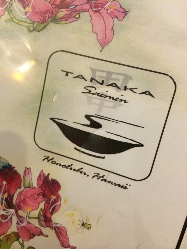 Tanaka Saimin has a big menu!