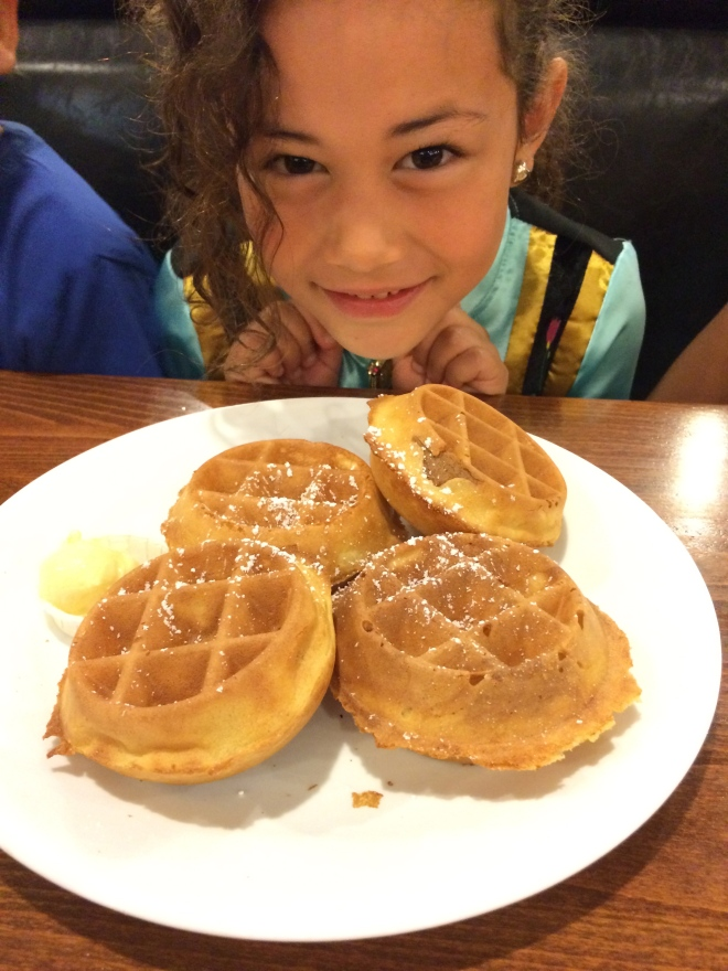 Lou Lou and her waffles…