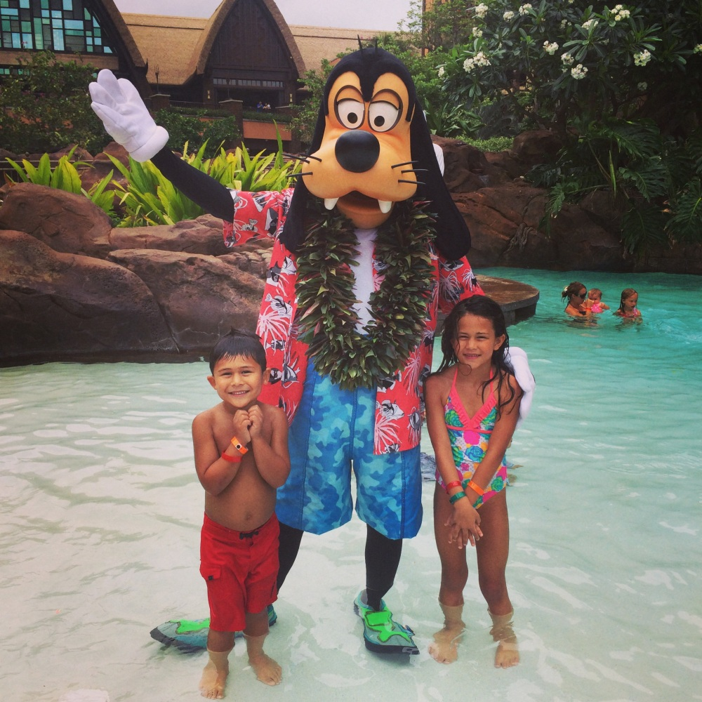 Waikolohe Pool was where all the Disney Characters came for pictures!