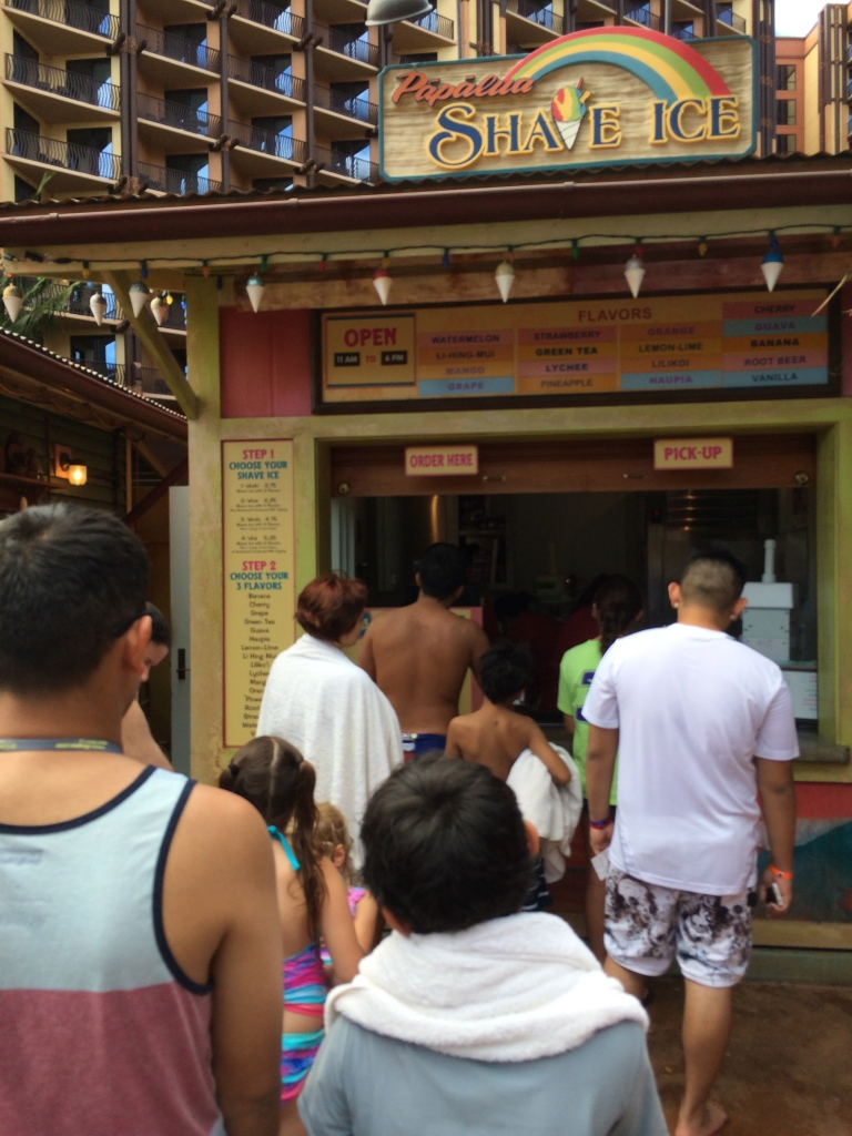Standing in line for SHAVE ICE!
