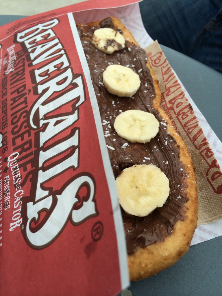 Beavertail with Chocolate spread and bananas!