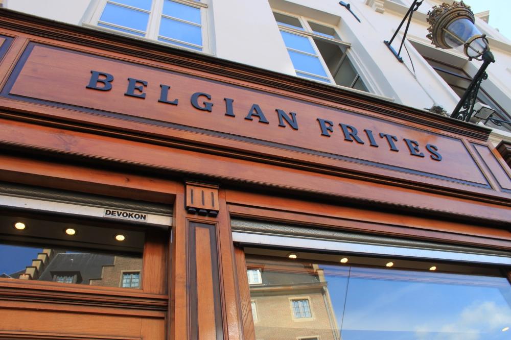 Belgian Frites in Brussels :)