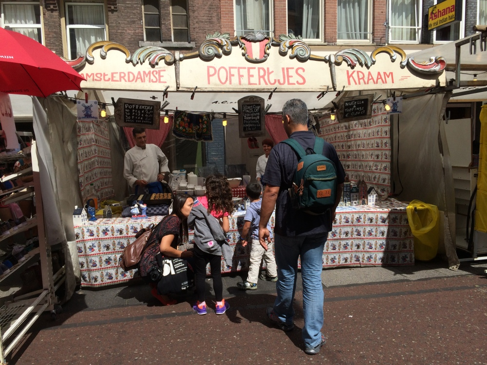Poffertjes stand at Albert Cupert Market