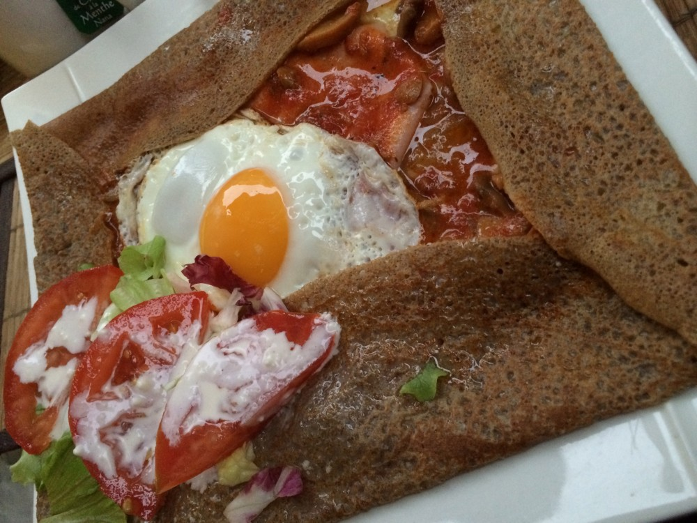 Crepe made with buckwheat