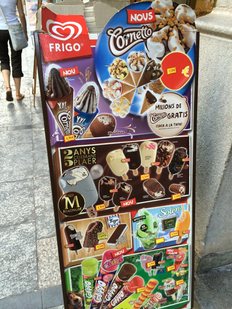 Ice cream boards are EVERYWHERE!