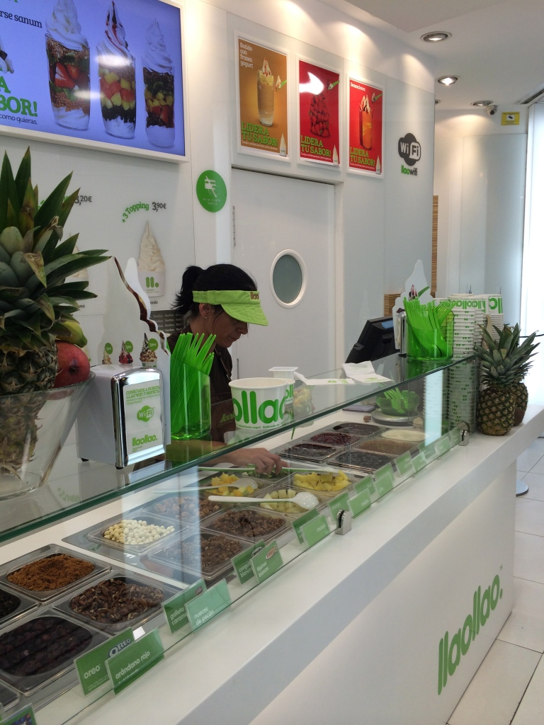 This is Llao Llao the shop we walked into