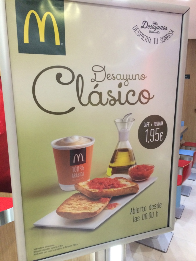 A cup of coffee and tomato bread is even available at McD's!