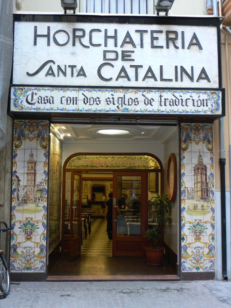 The entrance into the Horchateria