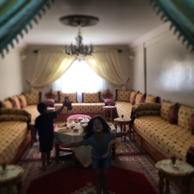 The Majlis (traditional Moroccan sitting area)