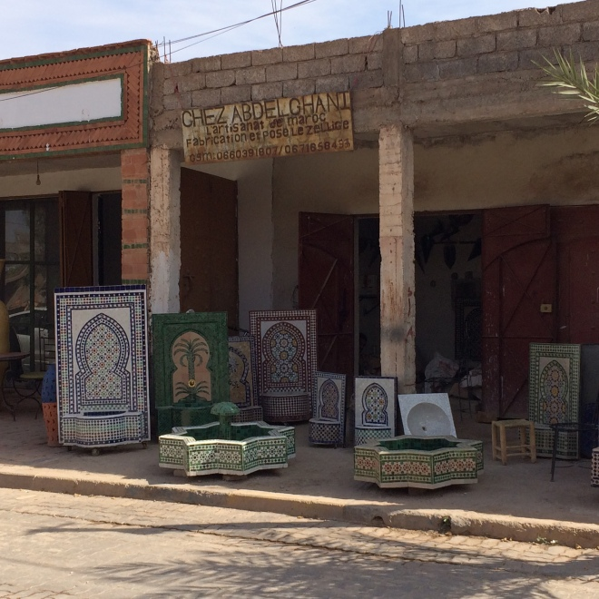 "Passing a ""handmade"" mosaic shop"