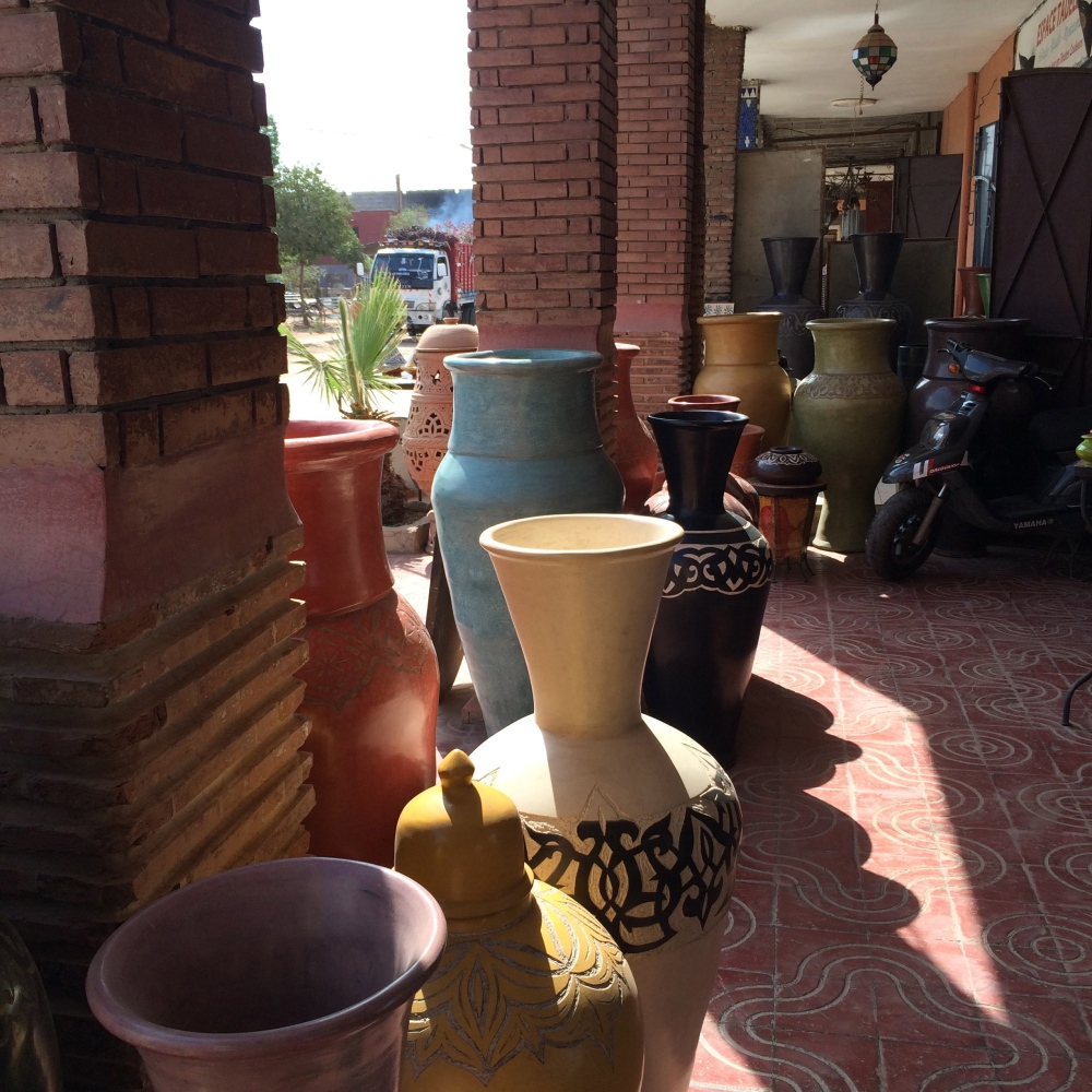 Where pottery is sold to hotels