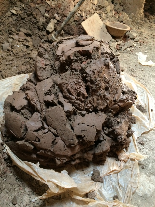 The clay smells so nice and earthy