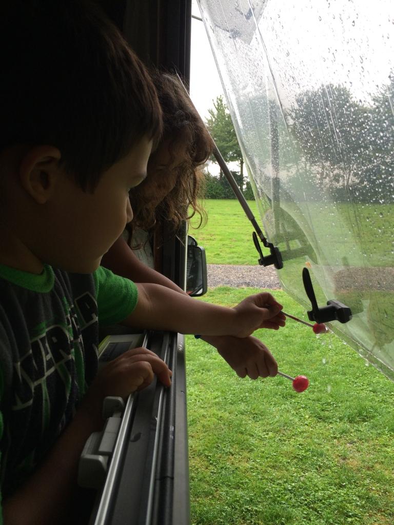 Even in the rain we had fun!