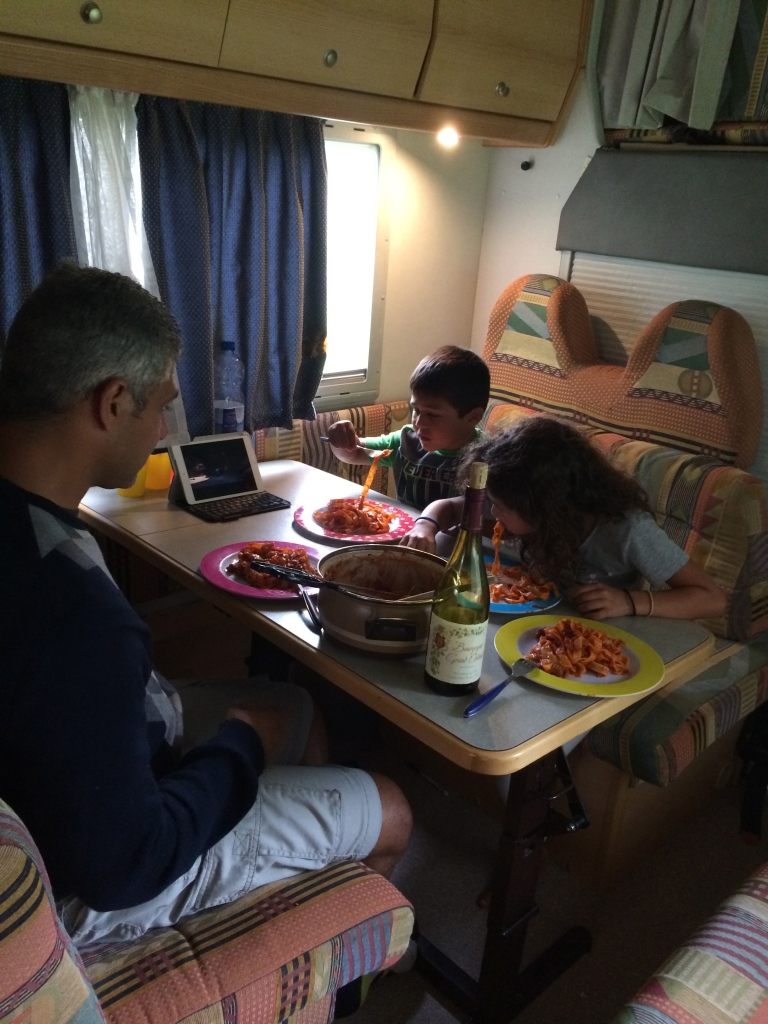 Our family meal made in the RV