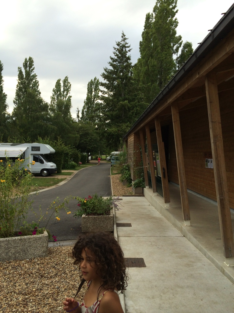 This campsite in Orleans, France had heated bathrooms!